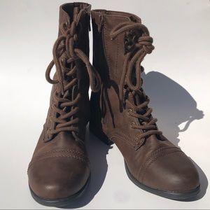 Merona Women's Combat Moto Boots Size 7